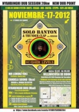 Nyahbinghi Dub Session Madrid Solo Banton (uk) Thunder Clap (Bilbao)