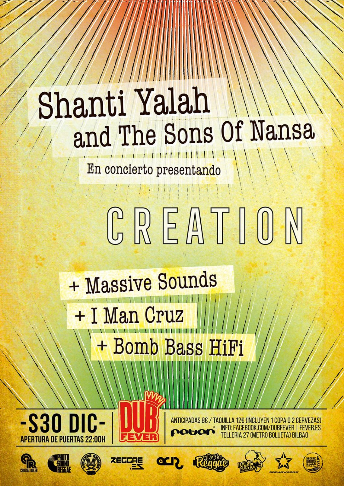 DUB FEVER Shanti Yalah & The Sons of Nansa